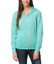 Zine Girls Spectra Green Patina Zip Up Hoodie