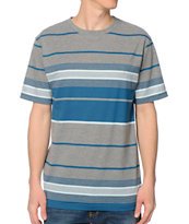 Zine Grey & Blue Stripe Tee Shirt