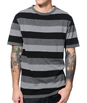 Zine Griffen Black & Grey Stripe T-Shirt