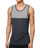 Zine Gunner Black & Grey Block Tank Top