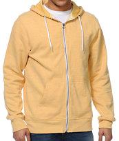 Zine Hoodlum Mustard Zip Up Hoodie