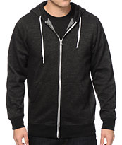 Zine Hooligan Black Speckle Zip Up Hoodie
