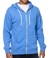 Zine Hooligan Bro Blue Zip Up Hoodie