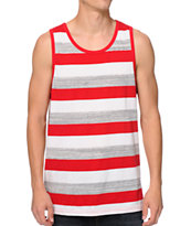 Zine Inferno Red Striped Tank Top