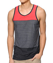 Zine Jazz Red, Grey, & Black Stripe Tank Top