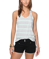 Zine Light Grey & Brook Green Mini Stripe Pocket Tank Top