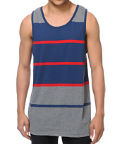 Zine Pats  Navy & Grey Striped Tank Top