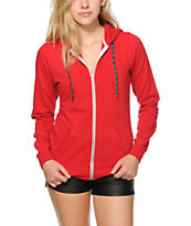 Zine Pop Chord Jester Red Zip Up Hoodie