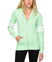 Zine Psi Mint Athletic Stripe Hoodie