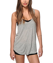 Zine Rho Grey Ribbed Tank Top
