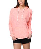 Zine Sandy Neon Coral Pullover Hoodie