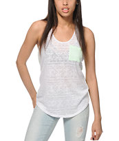 Zine Sigma Burnout Pocket Tank Top