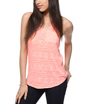 Zine Sigma Burnout Racerback Pocket Tank Top