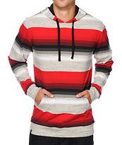 Zine Space Case Stripe Hooded Shirt