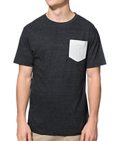 Zine Storm Black & Grey Pocket Tee Shirt