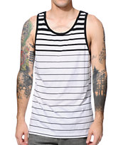 Zine Striker White & Black Stripe Tank Top