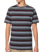 Zine Swoon Blue & Maroon Striped Tee Shirt