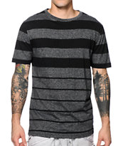 Zine Tamland Black & Charcoal Stripe Tee Shirt
