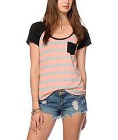 Zine Tempo Coral Stripe T-Shirt
