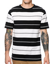 Zine Tux Black & White Stripe Tee Shirt