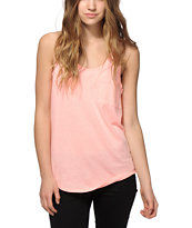 Zine Twist Coral Tank Top