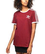 adidas 3 stripes mujer camiseta