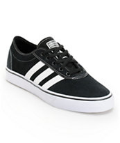 adidas Adi Ease Black & White Suede Skate Shoe
