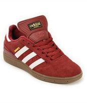 adidas Busenitz Cardinal, White, & Gum Skate Shoes