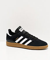adidas Busenitz Pro Black, White, & Gum Skate Shoes