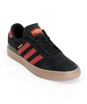 adidas Busenitz Vulc Black, Cardinal, & Gum Skate Shoes
