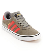 adidas Busenitz Vulc Mid Cinder, University Red, & White Skate Shoe
