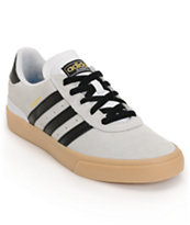 adidas Busenitz Vulc White, Black & Gum Skate Shoe