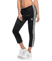 adidas Cigarette 3 Stripe Black Pants