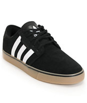 adidas Seeley Black & Gum Suede Skate Shoes