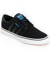 adidas Seeley Black Canvas Skate Shoe