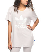 adidas Trefoil Lavender Boyfriend T-Shirt