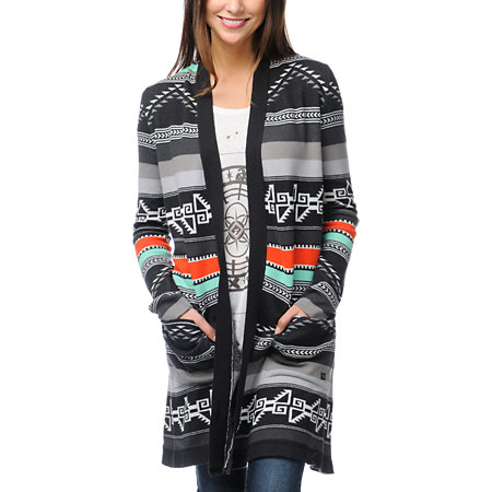 Pair this colorfully knit cardigan with a solid colored outfit to make the patterns really stand out!4/5(1).