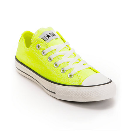 converse chuck taylor all star washed neon yellow shoes at