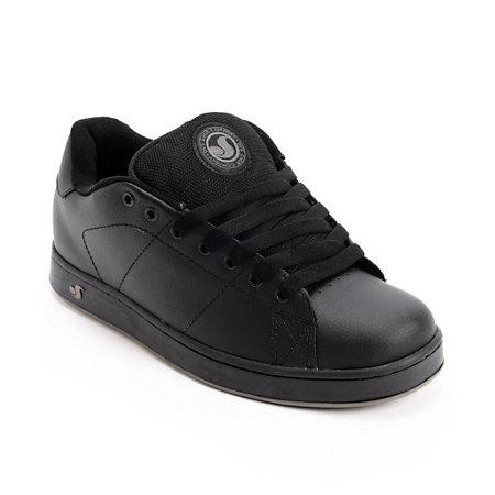 dvs revival black leather skate shoe at zumiez pdp