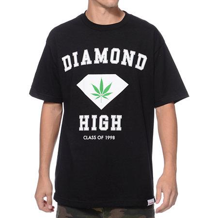 Diamond supply co diamond high black t shirt at zumiez pdp for Wholesale diamond supply co shirts