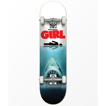 Girl Malto Shark Attack 7.6&quot Skateboard Complete