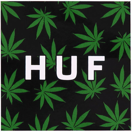 huf plantlife box logo black amp green sticker at zumiez pdp