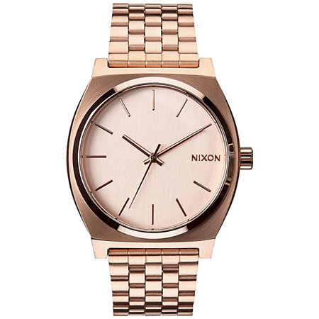 Nixon time teller rose gold analog watch at zumiez pdp for Watches zumiez