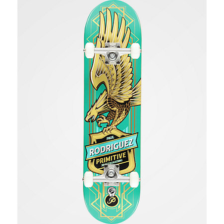 Primitive Paul Rodriguez Teal Eagle 7.87&quot Skateboard Complete