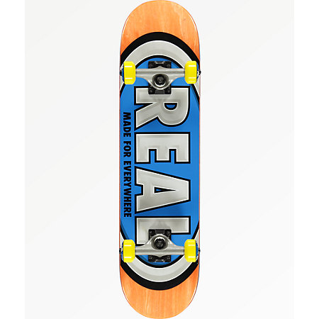 Real Oval Mini 7.3&quot Skateboard Complete
