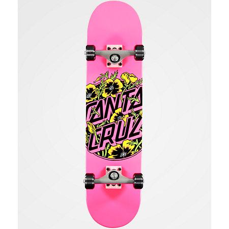 Santa Cruz Colored Poppy 7.75&quot Skateboard Complete