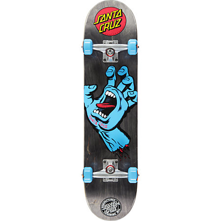 Santa Cruz Screaming Hand Black 7.5&quot Skateboard Complete