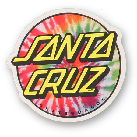 Santa Cruz Tie Dye Dot Vinyl Sticker At Zumiez Pdp