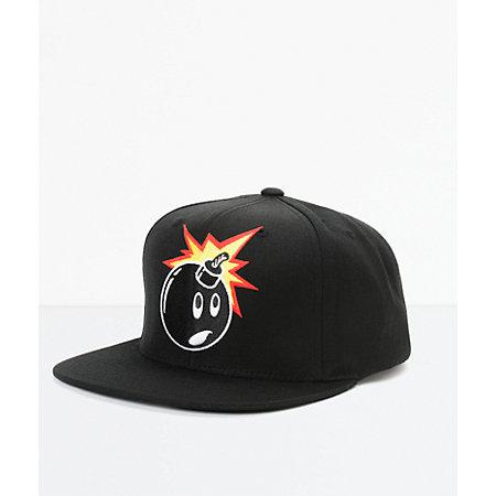 the hundreds adam snap black snapback hat at zumiez pdp