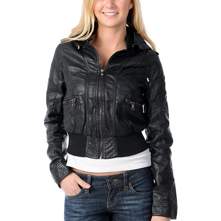 Thread and Supply Black Faux Leather Jacket at Zumiez : PDP